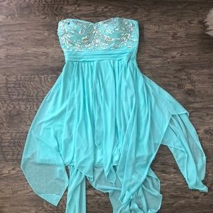 Cute teal formal dress